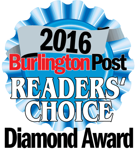 2016 Burlington Post Reader's Choice Diamond Award