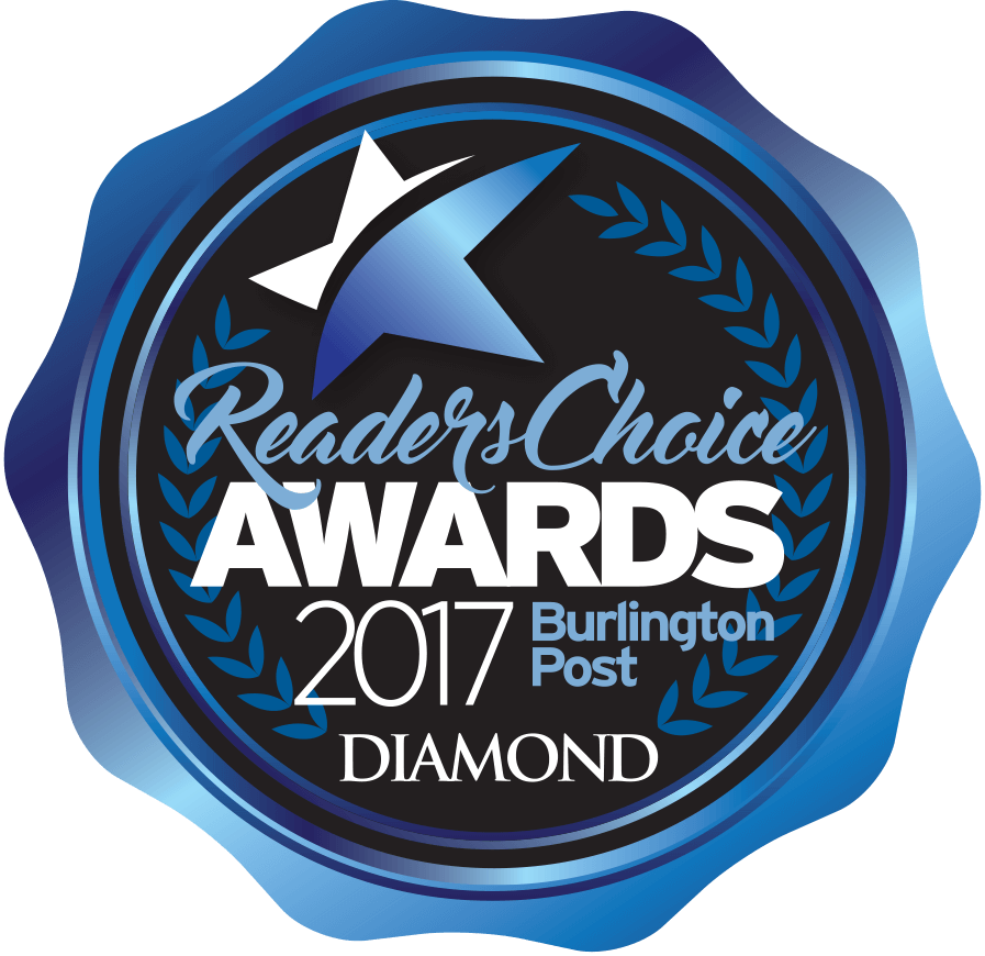 2017 Burlington Post Reader's Choice Diamond Award