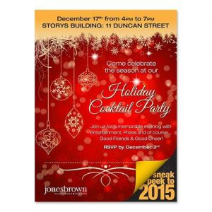 Jones Brown Holiday Party Invite
